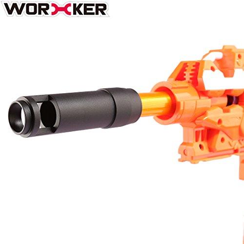 LoKauf Worker AK Mold Aluminiumlegierung Vorne Rohr Deko Kappe Zubehör für Nerf (Typ E)