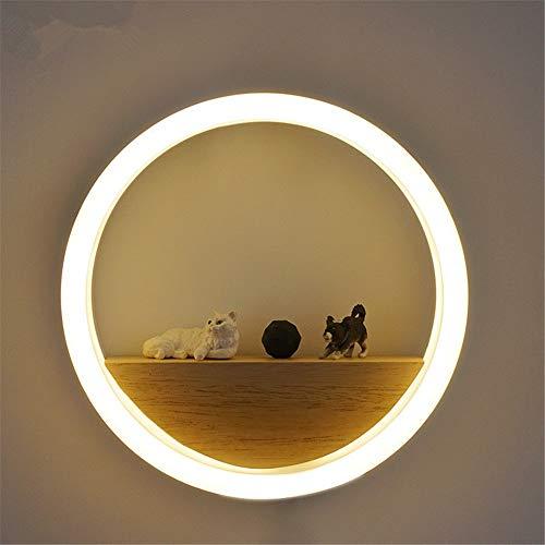 Wandlamp voor hal, multifunctioneel, leeslamp, lampenkap van acrylglas, eenvoudige wandlamp, slaapkamer, woonkamer, café, met magazijnlicht, transmissie