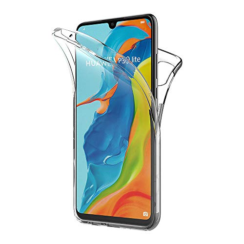 AICEK Funda Huawei P30 Lite, Transparente Silicona 360°Full Body Fundas para Huawei P30 Lite Carcasa Silicona Funda Case (6,15 Pulgadas)