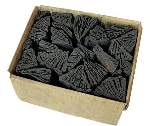 しらおい木炭2kg 2箱入(ナラ切り)約6cm 切炭 黒炭。北海道産・国産、BBQ炭
