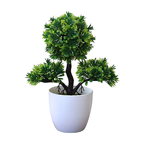 Gysad Planta artificial Arbol de la vida Maceta planta artificial Fresco y natural Planta artificial...