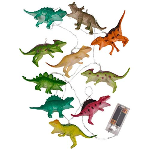 Urisgo 10er LED Dinosaurier Lichterkette, Lichterkette Kinderzimmer,3D-Nachtlicht,Ca. 1,70 m Lang Batteriebetrieben Kinderzimmer Lights Geschenk Deko