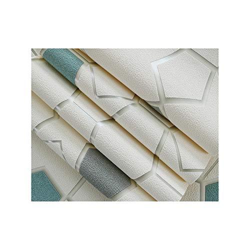 sknonr Verdickte nichtgewebte Tapete 3D, Wohnzimmer Schlafzimmer Hintergrund Geometrische Muster Film- und Fernseher Hintergrund Wand Wildleder Tapete (Color : Blue)