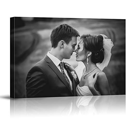 SIGNFORD Custom Canvas Prints, Wedding Photos Personalized Poster Wall Art with Your Photos Framed Digitally Printed - 8' x 10'