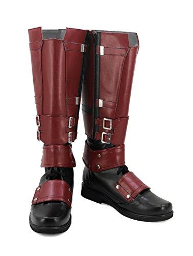 veribuy Halloween Men Hero Cosplay Shoes Guardian Costume Red Cosplay Boots