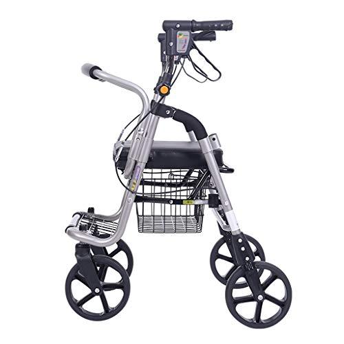 Carritos de la compra Plegable de Cuatro Ruedas Plegable portátil de sillas de Ruedas, carros de la Compra de Edad Avanzada, a Mano Empuje de comestibles Carr