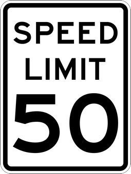 New Metal Sign Aluminum Sign 50 MPH Speed Limit Signs for Outdoor & Indoor 12' x 8'