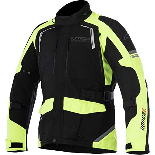 Alpinestars - Motorradjacken Andes V2 Drystar Schwarz Gelb Fluo - 3XL