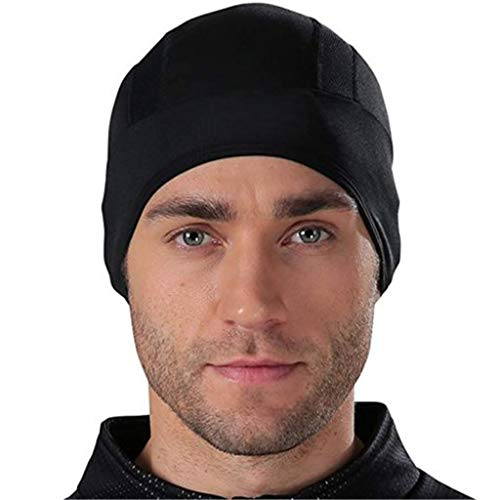 SIRIGOGO Feuchtigkeitstransportierende Beanie-Mütze, kühlender Totenkopf-Helm, atmungsaktives Schweißband, Kopfbedeckung, Outdoor-Sport