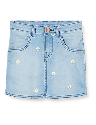 Noppies Mädchen G Skirt Mini Cutler Rock, Blau (Medium Blue Denim P493), (Herstellergröße: 116)