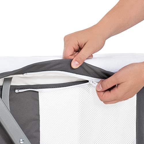 Hauck Dreamer Babywiege/Stubenwagen/Beistell-/Reisebett, inkl. Matratze und Spielzeugtasche, mit Schaukelfunktion, faltbar, klappbar und tragbar, Grau - 14