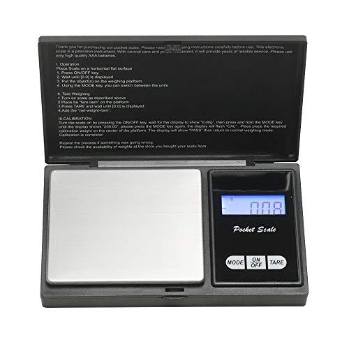 KingSaid 200g Feinwaage Taschenwaage Digital Perfekt für Schmuck, Münzen, Gewürze, Puder und andere Kleine