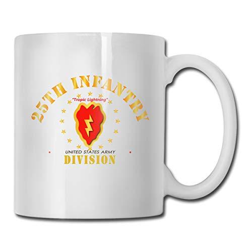 DSJRKSKEE 25th Infantry Division Tropic Lightning Funny Gift Mug White Tea Mug 11 Oz