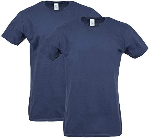 Gildan Men s Softstyle Cotton T Shirt Style G64000 2 Pack Navy 3X Large product image