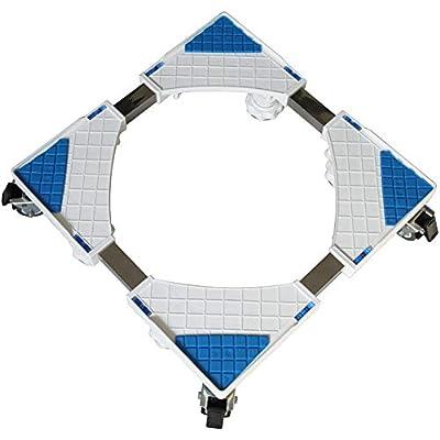 Washing Machine Pedestal Fridge Base Adjustable Movable Rack with Brake Washing Machine Floor Trays Load Capacity 500kg