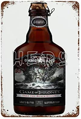 Huzkc Ommegang Game of Thrones Une Nouvelle Bi re Sign e HBO Vintage Tin Sign Prevent Glare product image