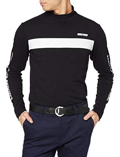 [ニューバランス ゴルフ] [メンズ] 長袖 ハイネックシャツ (COOLMAX: 吸汗速乾性・UPF40+) / 012-0167003 / インナー UV ゴルフ 010_ブラック 日本 4 [M] (日本サイズM相当)