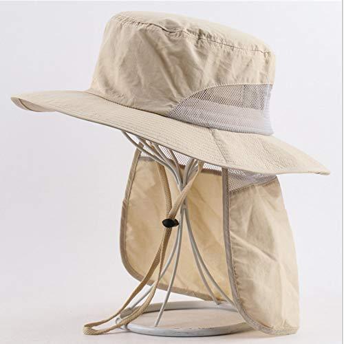 Pesca Playa de Cap Sun Gorra de protección UV sombreros de Sun UPF 50 + cuello de la cara de la aleta de cubierta a prueba de viento de ala ancha sombrero del verano al aire libre Trabajo jardinero de