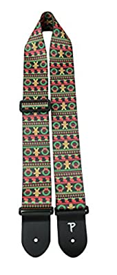 Gingerbread Ugly Sweater Guitar Strap