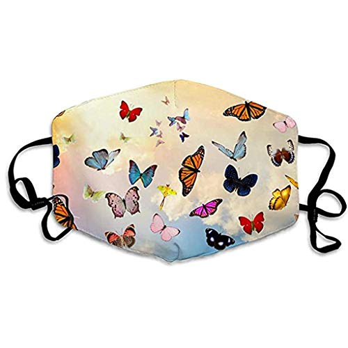Aadiju Protective Face Mask, Unisex Mouth Mask, Adult Woven Fabric Flower Printed Dustproof Mask with Adjustable Buckle