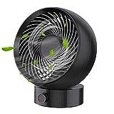 JIEPPTO Mini Ventilador De Escritorio USB, Operación Silenciosa, Portátil, 3 Tipos De Velocidad De Viento Ajustable, Adecuados para El Dormitorio De Oficina (Kolor : Black)