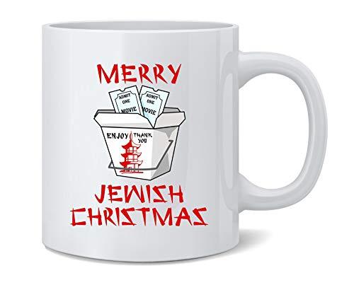 Poster Foundry Merry Jewish Christmas Funny Hanukkah Ceramic Coffee Mug Tea Cup Fun Novelty Gift 12 oz