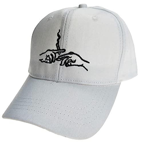 Diiya Cap Smoke Baseball Cap Papa Hut Für Männer Frauen Stickerei Hände Rauchmuster Trucker Cap Weed Bone Golf Baseball Hut Weiß