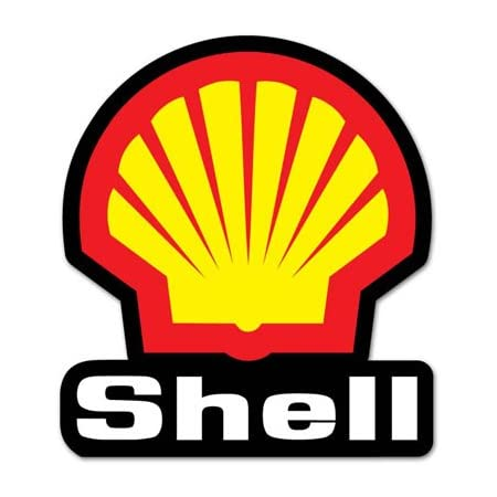 SHELL GAS Vinyl Sticker Decal Garage Station PROMO RACING F1 FLAG Vintage Style