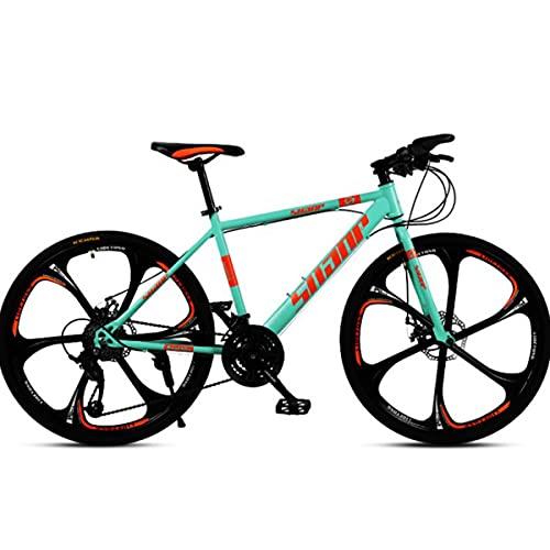 PBTRM 26 Pulgadas 27 Velocidades Bicicleta Ciudad Carretera Bicicleta Montaña Freno Disco Doble para Hombres Y Mujeres,Verde
