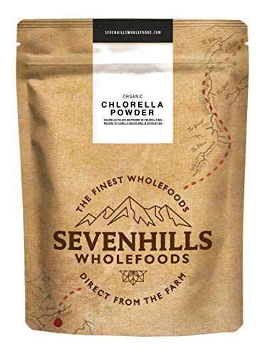 Sevenhills Wholefoods Chlorella En Polvo, Pared Celular Rota, Orgánico 250g