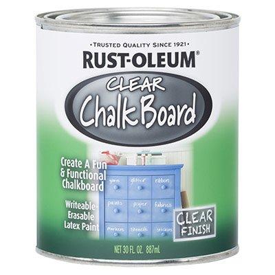 Rustoleum 284469 30 Oz Clear Chalkboard Paint