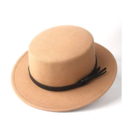 ZXF Hombres Mujeres Flat Top Hat Fedora Pie Aire Libre