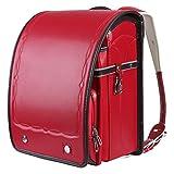 【Amazon限定ブランド】バオバブの願い 新型 ランドセル 女の子 軽量かつ頑丈 ワンタッチロック A4フラットファイル対応 手縫い japanese schoolbag 6年間保証付き Bab-RnG016 (NEW RED)