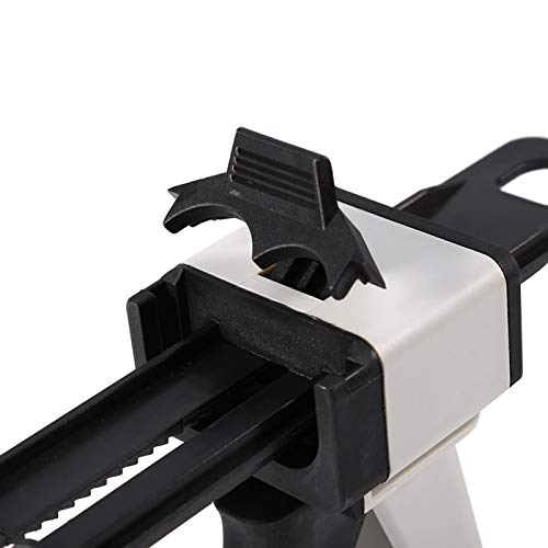Pistola dispensadora universal, kit de pistola dispensadora dental de 50 ml 2: 1/1: 1 Pistola dispensadora de mezcla Pistola de calafateo dental portátil para clínica dental para dentista