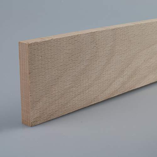 Rechteckleiste Bastelleiste Abschlussleiste aus unbehandeltem Buche-Massivholz 1000 x 9 x 55 mm