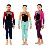 Scubadonkey 2.5mm Neoprene Full Wetsuit for Kids (Pink/Purple, 6)
