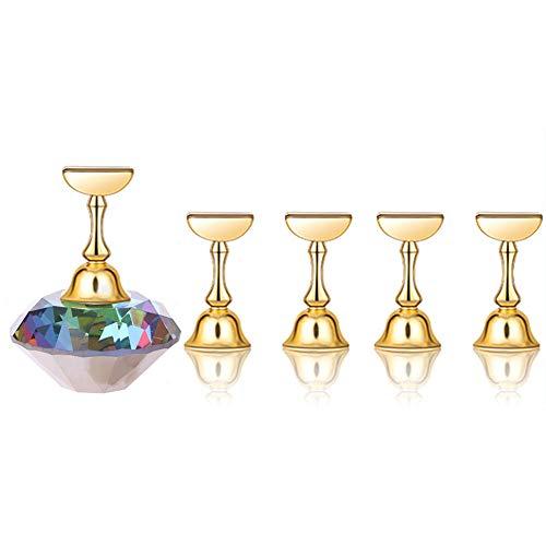 Hilai 1 Jeu MagnéTique Pointes D'Ongles Pratique Nail Art Base De Support En Cristal Outils D'Affichage Pour Nailart Salon Ou Bricolage Pratique Manucure (Flamme)