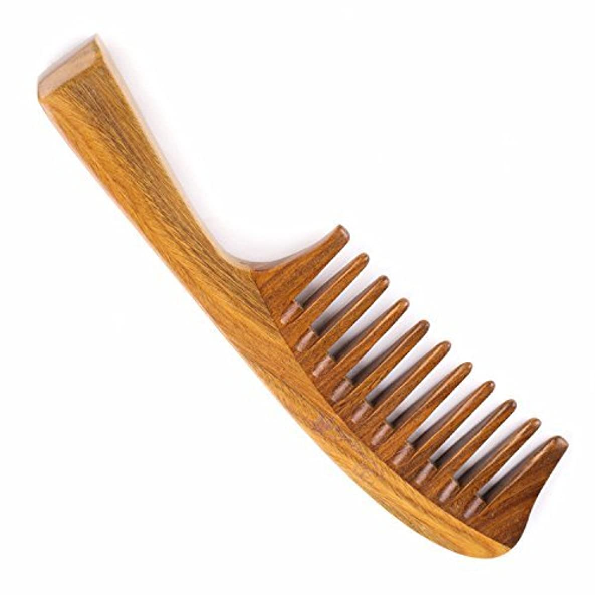 事件、出来事違反ラップHair Comb for Curly Hair - Breezelike Wide Tooth Sandalwood Comb - 8