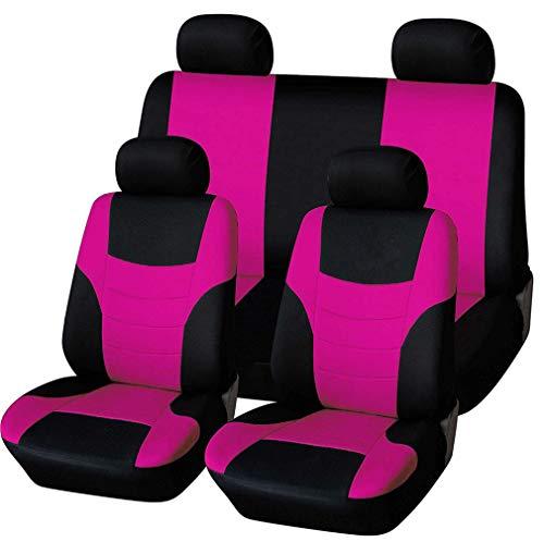 HotYou Universal Sitzbezüge für Auto Schonbezug Komplettset,Herausnehmbar und waschbar,Rosa