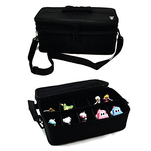 Technoskin - Figure Carrying Case for Amiibo, Disney Infinity, and Skylanders - 10 Slots - Carrying Strap - Card Holders by Technoskin