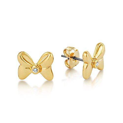 Disney Minnie Mouse pendientes de bañado en oro con cristal