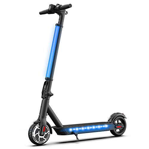 """Hiboy Patinete Eléctrico S2 Lite - Neumáticos sólidos de 6.5"""" - hasta 16 KM de largo alcance y 21 KM/H scooter portátil plegable para niños adultos con doble Sistema de frenado"""