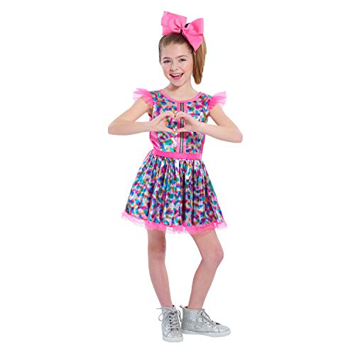 JoJo Siwa My World Dress-Up Set, Includes Dress and Oversized Pink Bow, Fits Sizes 4-6X