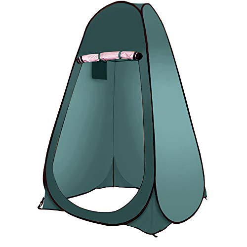 Tienda de Ducha de Camping Pop Up Tienda de Cambio de Privacidad Al Aire Libre Se Puede Utilizar para Acampar Al Aire Libre, Senderismo, BañOs, Refugios de Cambio (Verde Oscuro,individuale)