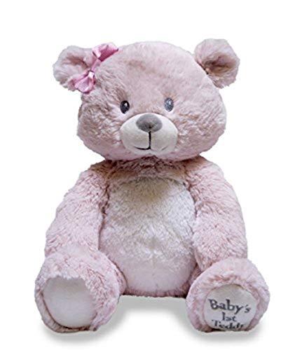 Cuddle Barn Baby's First Teddy Lullaby Animated Singing Teddy Bear, 10' (Pink)