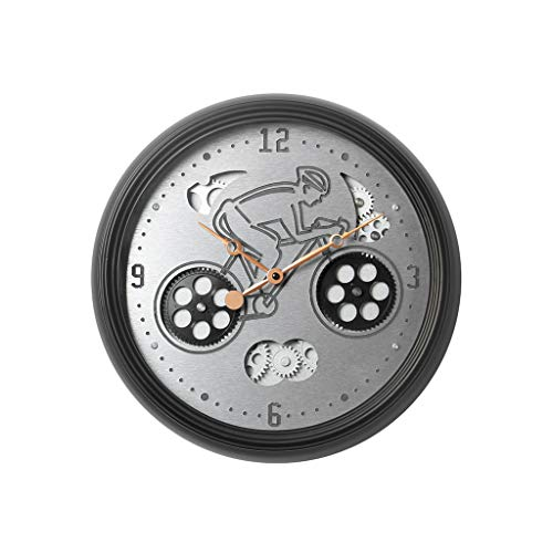 ZHEYANG Wanduhren für Zuhause Mechanische Zahnraduhr Drehbare Uhr Wanduhr Wohnzimmer Elektronische Uhr Taschenuhr