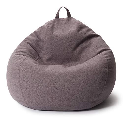 Lumaland Comfort Line XXL Sitzsack Indoor - 100x120x50 cm - Bodenkissen, Bean Bag Chair - 315 L - EPS Perlen Füllung - Dunkelgrau