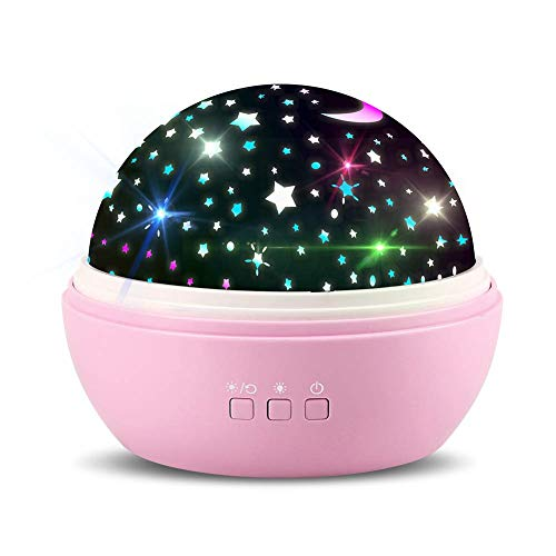 TOFOCO COM 360 Rotating Star Projector Night Light for Kids Baby Girls for Bedroom Nursery Ceiling - Best Birthday Valentine's Day Gifts for Her
