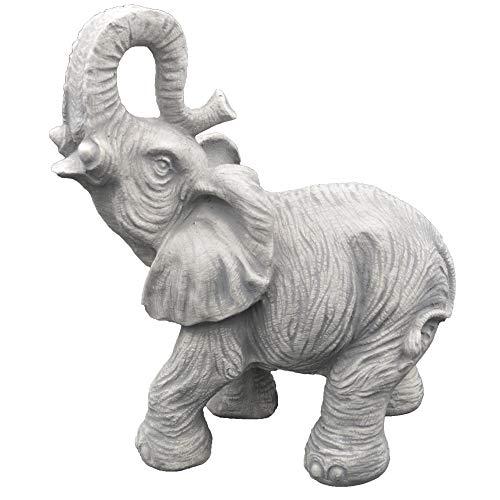gartendekoparadies.de Massive Steinfigur Tanzender Elefant Motiv I aus Steinguss frostfest