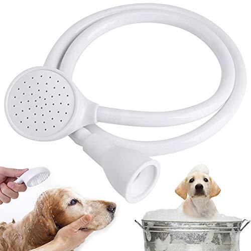 JPYH Cabezal De Ducha para Mascotas, Alcachofa de ducha portátil para mascotas, Ducha de mano multifuncional,abezal de ducha con manguera de baño, para fregadero, lavado del pelo de mascota